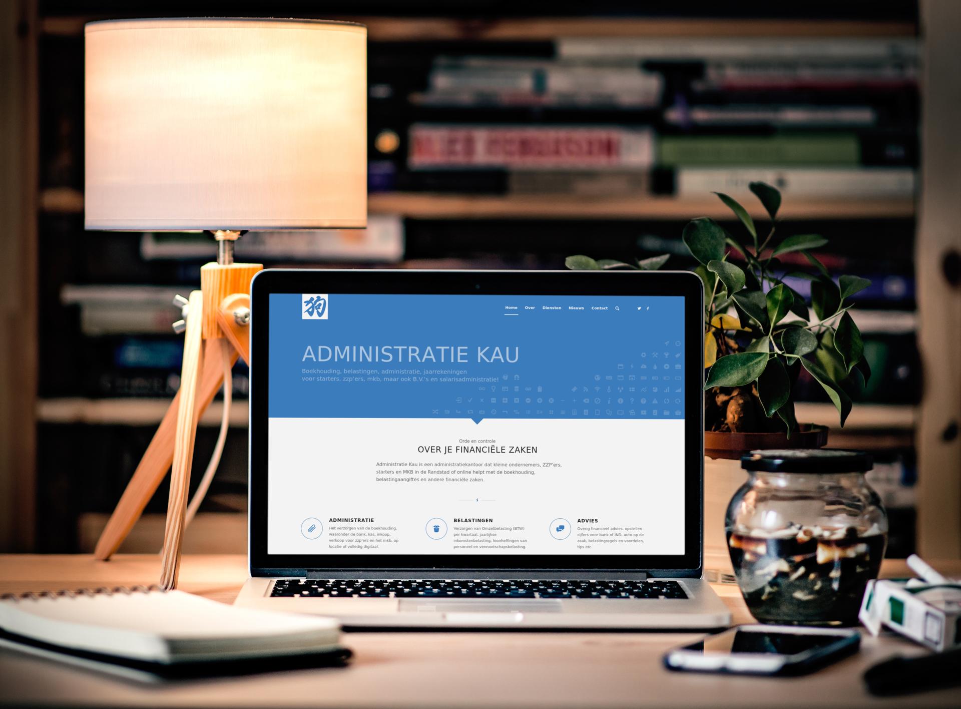Website voor Administratie Kau